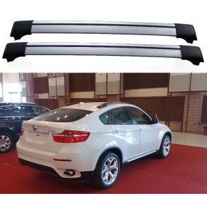 BMW X6 E71 2008+ Aero Cross Bars Set Roof Rack Aluminium Spoiler