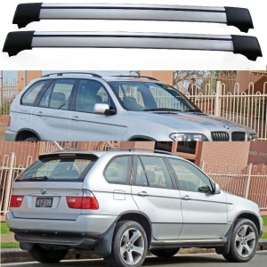 BMW X5 E53 5dr 4x4 00-07 Aero Cross bars set Roof Rack Spoiler