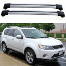 Mitsubishi Outlander 5dr 4x4 2008+ Roof Aero Cross Bars Spoilers Set