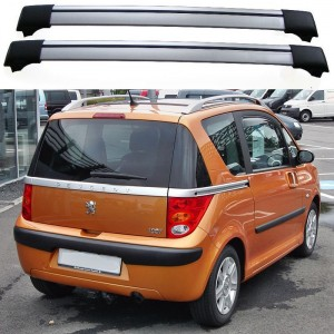 peugeot 1007 04 09 estate roof aero cross bars spoiler set shark car accessories roof rails. Black Bedroom Furniture Sets. Home Design Ideas