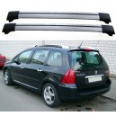 Peugeot 307SW Estate Roof Aero Cross Bars Spoiler Set