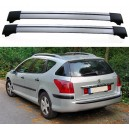 Peugeot 407 SW Estate Roof Aero Cross Bars Spoiler Set