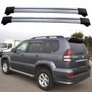 Toyota Land Cruiser 120 Prado 2003-2009 Roof Rack Aero Cross Bars Set