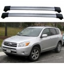 TOYOTA RAV4 MK3 3DR/5DR 4X4 2006+ ROOF RACK AERO CROSS BARS SET SPOILERS