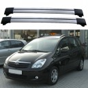 Toyota Corolla Verso MK1 MK2 2001-2009 Roof Rack Aero Cross Bars Set
